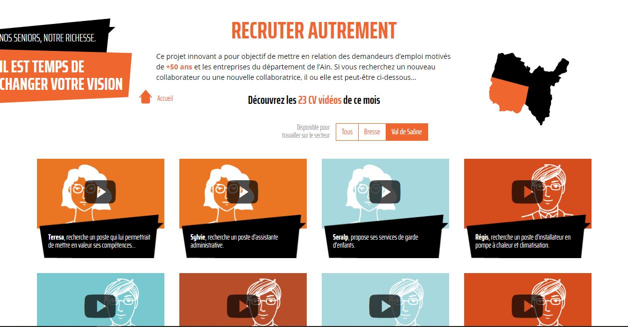 La MIFE de l Ain lance son nouveau site Internet www.recruterautrement.fr.  Ce nouveau site a pour but de valoriser la richesse du public senior  accompagné ... 160b0f06ae6d
